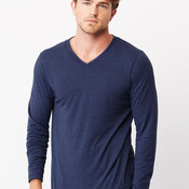 Canvas Triblend Long Sleeve V-Neck Tee
