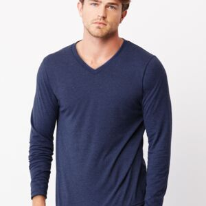 Canvas Triblend Long Sleeve V-Neck Tee Thumbnail